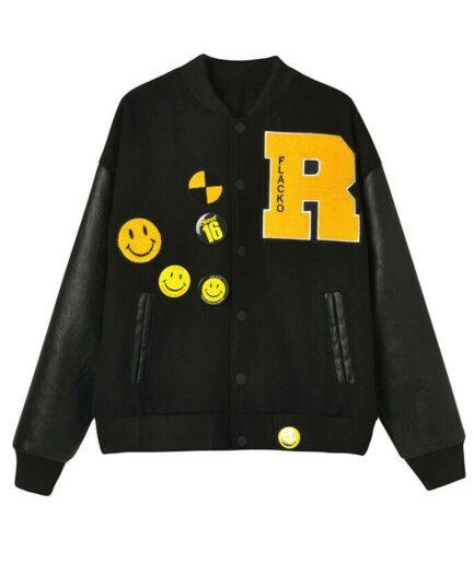 Testing Awge Flacko ASAP Rocky Varsity Jacket - Black
