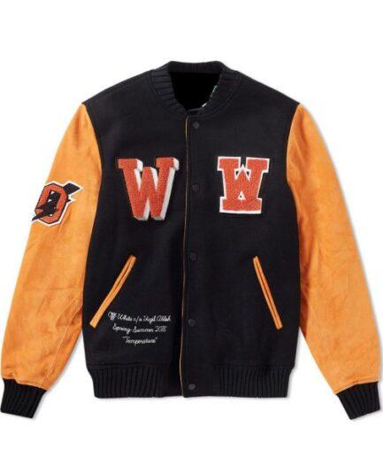 Men's Off-White Eagle Temp Varsity Jacket